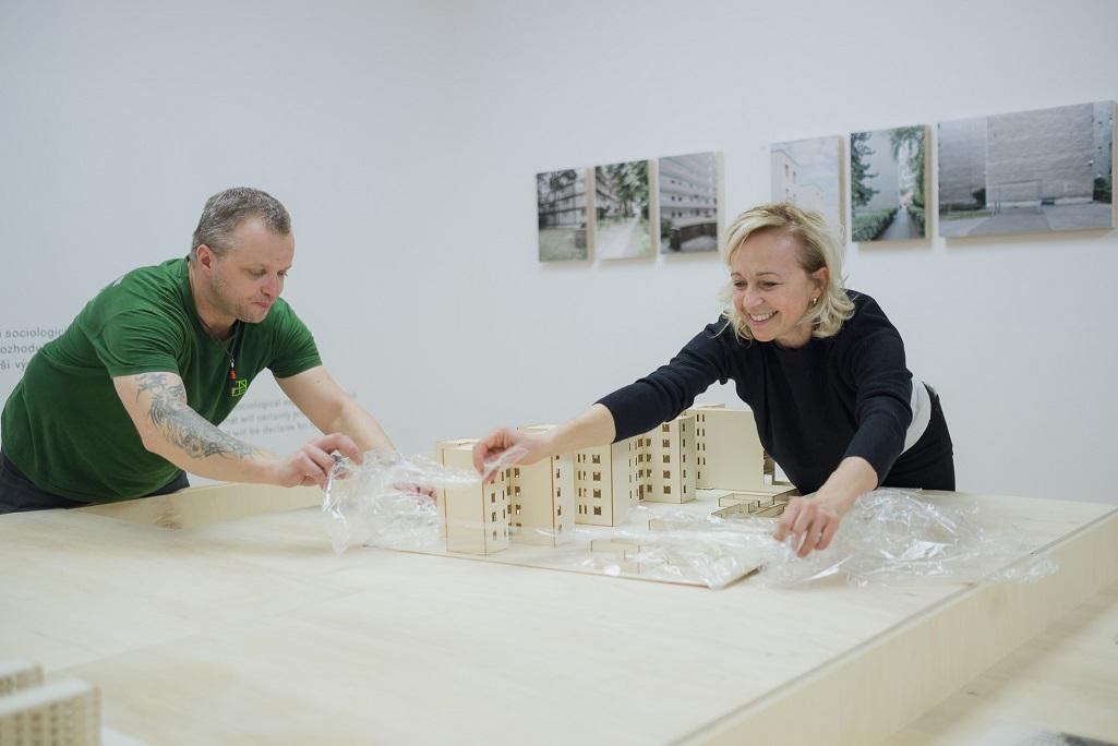 Architekt Friedrich Weinwurm, Slovenská národná galéria 2018, inštalácia výstavy.